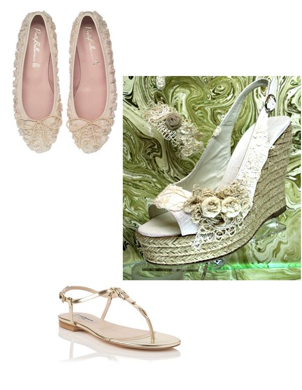 sandalias plateadas planas boda