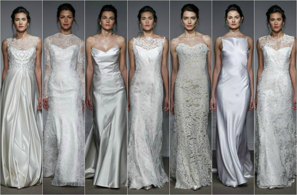 Vestidos de novia de noche 2013