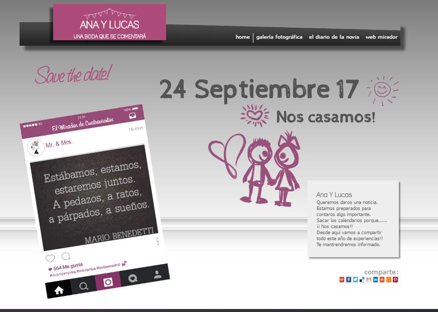 invitación virtual bodas mirador de cuatrovientos