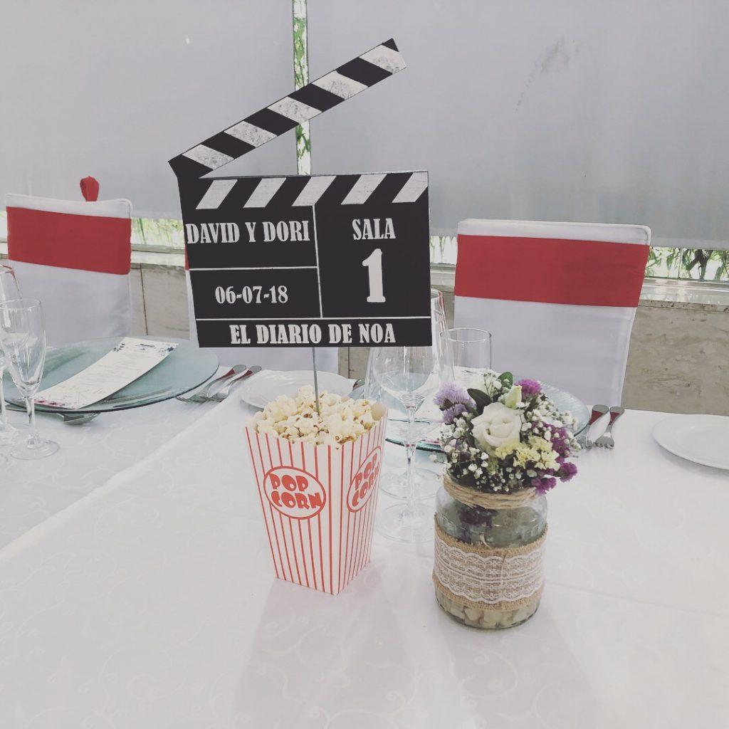 nombre de mesa para banquete de boda