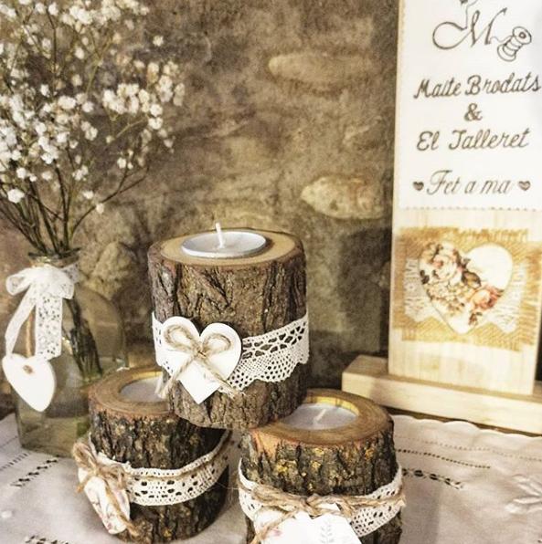 detalles de boda portavelas